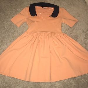 Zara Basic Peach Mini Dress